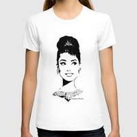 tiffany T-shirts featuring Audrey in Tiffany by FloresArts