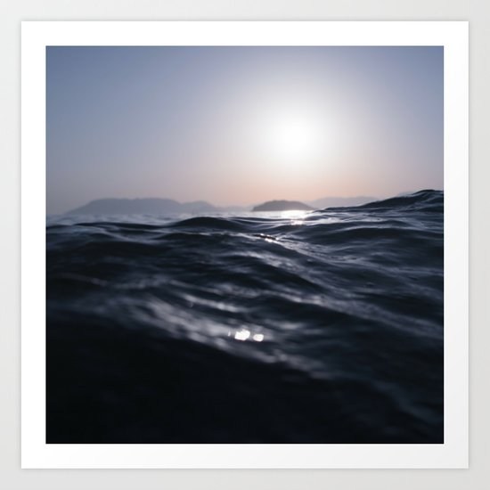 Water and Sun in the Distance (Lake / Ocean) Art Print