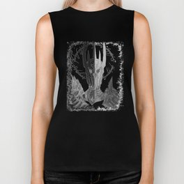 Two faces of Sauron Biker Tank