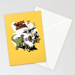 T-Rex VS Shark  Stationery Cards