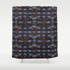 Patterned elephants  Shower Curtain