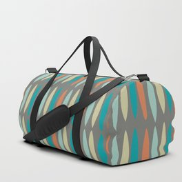 Contemporary Mid-Century Modern Geometric Pattern Duffle Bag