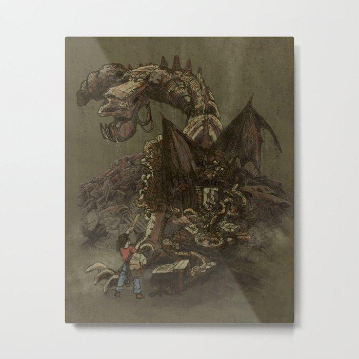 Junkyard Dragon  Metal Print