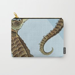 Seahorse Triangle Geometric Modern Beach House Colorful Carry-All Pouch