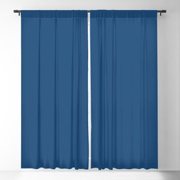 From The Crayon Box – Midnight Blue - Dark Blue Solid Color Blackout Curtain