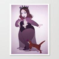 khaleesi Canvas Prints featuring Khaleesi del Rey by Jenn St Onge Illustration