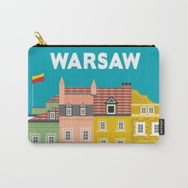 Warsaw, Poland - Skyline Illustration by Loose Petals Carry-All Pouch