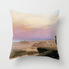 Jean-Leon Gerome - The Two Majesties - Digital Remastered Edition Throw Pillow