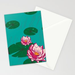 LuMa Water Lilies Large Print Stationery Cards