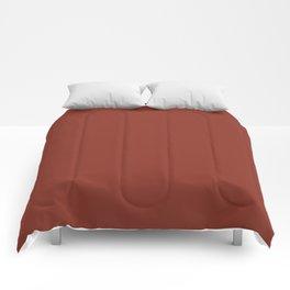 Burnt Umber - solid color Comforters