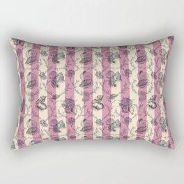 Stripes & Shells - red Rectangular Pillow