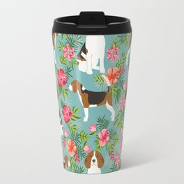 Beagle hawaiian dog pattern tropical pattern cute gifts for dog lover dog breeds Travel Mug
