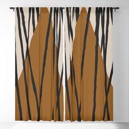 Minimal Geometric Study 92 Blackout Curtain