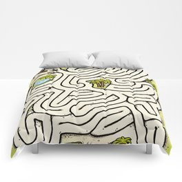 Pirate Treasure Maze Comforters