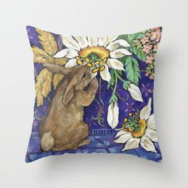 Fragrant Flowers Throw Pillow