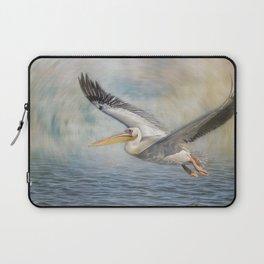 Flight of a Great White Pelican Laptop Sleeve