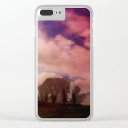 Autumn landscape with sky Clear iPhone Case