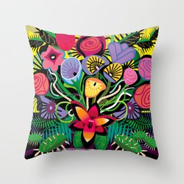 Cactus Jungle Throw Pillow