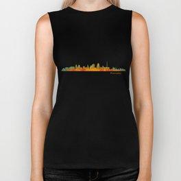Kansas City Skyline Hq v1 Biker Tank