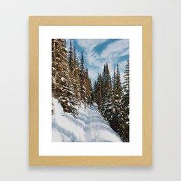Lake Agnes Trail Framed Art Print