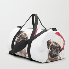 Christmas Pug Duffle Bag