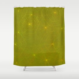 Fireflies and Filaments Shower Curtain