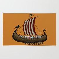vikings Area & Throw Rugs featuring Vikings by mangulica