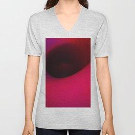 Black hole in pink Unisex V-Neck