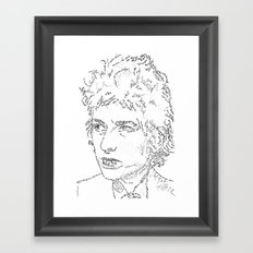 Bob Dylan WordsPortrait  Framed Art Print