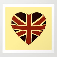 Vintage Union Flag ~ Love Art Print