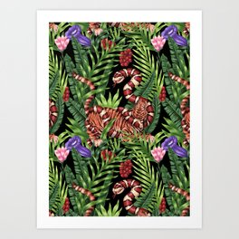 TIGER VS SNAKE Art Print
