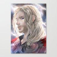 thor Canvas Prints featuring Thor by Lüleiya