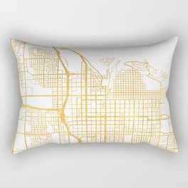 SALT LAKE CITY UTAH CITY STREET MAP ART Rectangular Pillow