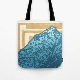The Mountain Summit - Block Print Tote Bag