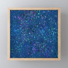 """Formica""  Digital Design in Navy Framed Mini Art Print"