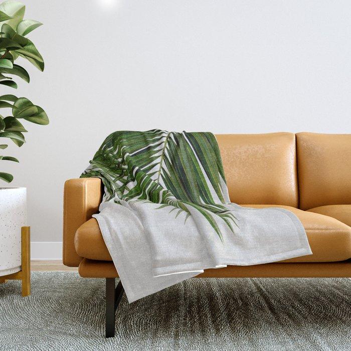 Palm Leaf II Throw Blanket