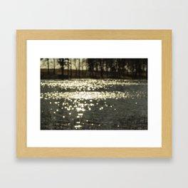 blur sunshine Framed Art Print