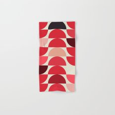 Red Bowls Hand & Bath Towel
