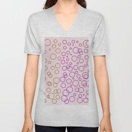 Design dots, sweet pink Unisex V-Neck