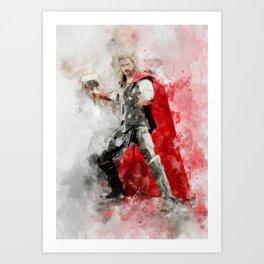 Thor ragnarok Art Print