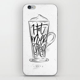Coffee latte cup iPhone Skin