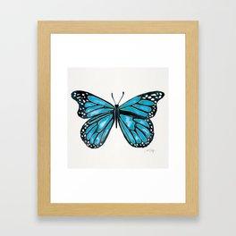 Blue Morpho Butterfly Framed Art Print