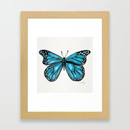 Blue Morpho Butterfly Framed Art Print