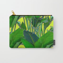 DECORATIVE TROPICAL GREEN FOLIAGE & CHARTREUSE ART Carry-All Pouch
