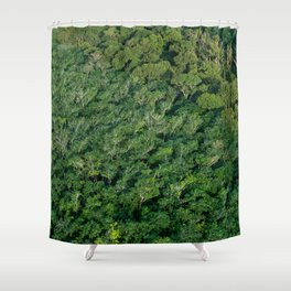 Arial tropical forest Shower Curtain