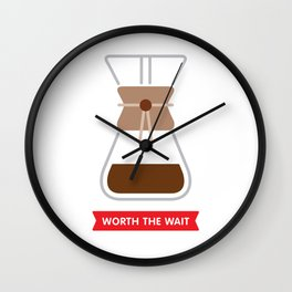 Worth the wait: Chemex Wall Clock