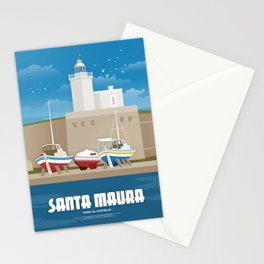 Lefkada, Lighthouse at the Castle (GR) Stationery Cards