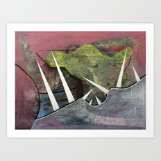 Andes (oil on canvas) Art Print
