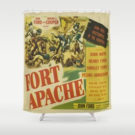 John Wayne in Fort Apache Shower Curtain