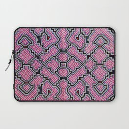 Song of Bringing Things Together - Traditional Shipibo Art - Indigenous Ayahuasca Patterns Laptop Sleeve